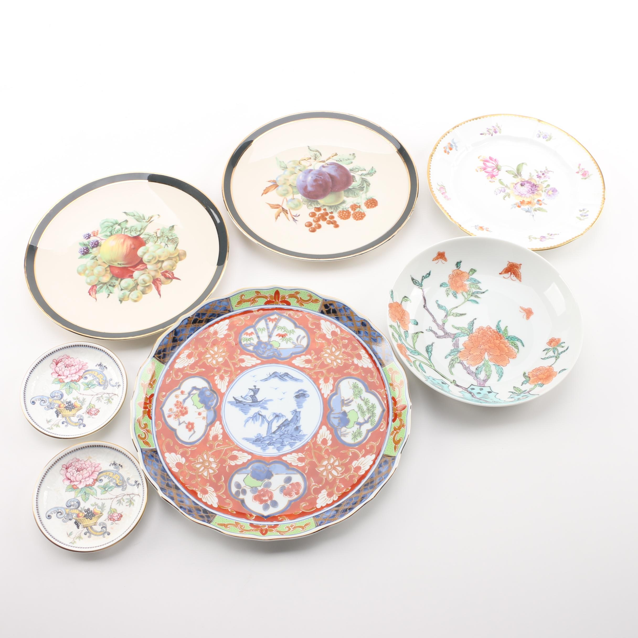 "Plates Including Royal Staffordshire ""Chelsea Manor"""