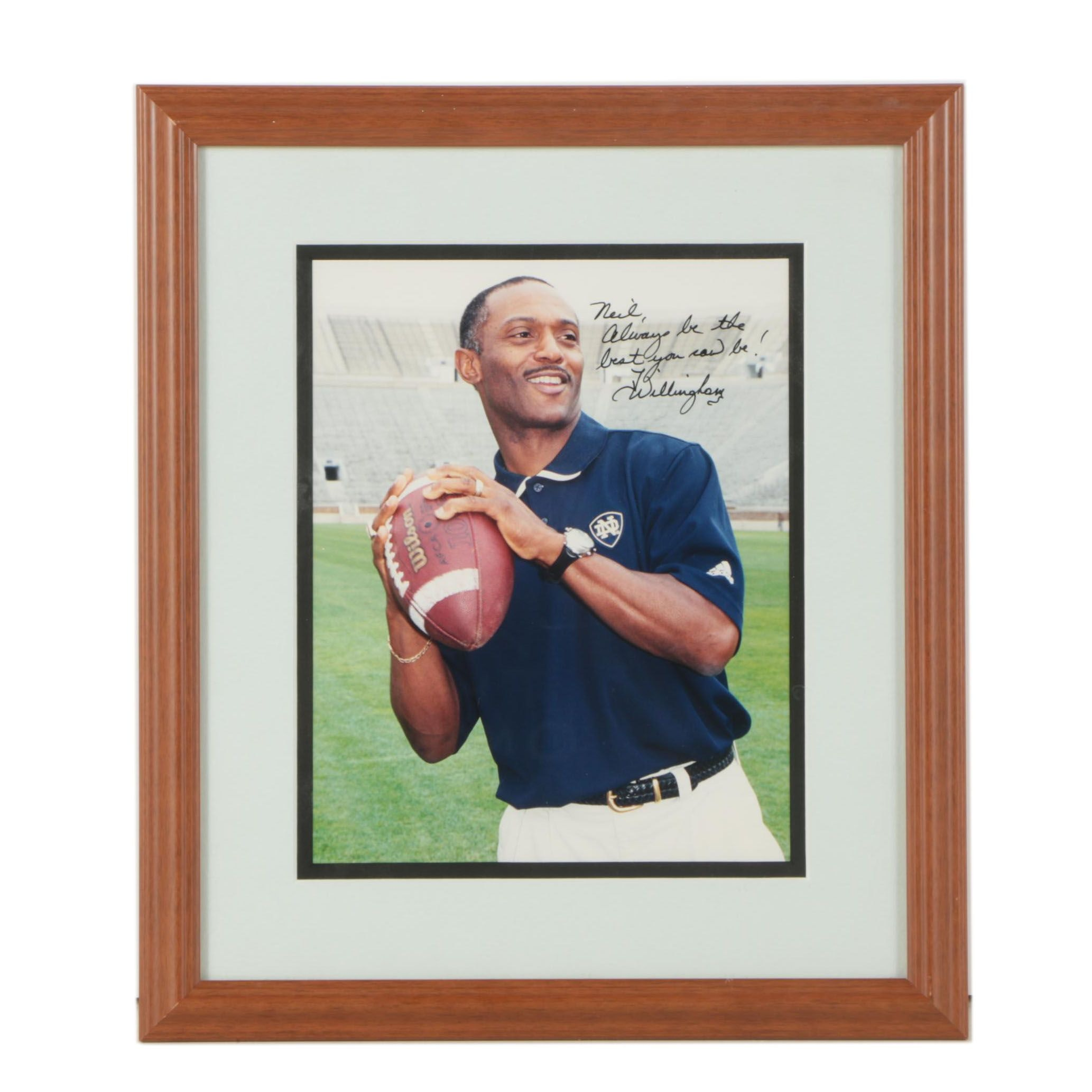 Tyrone Willingham Autographed Photograph