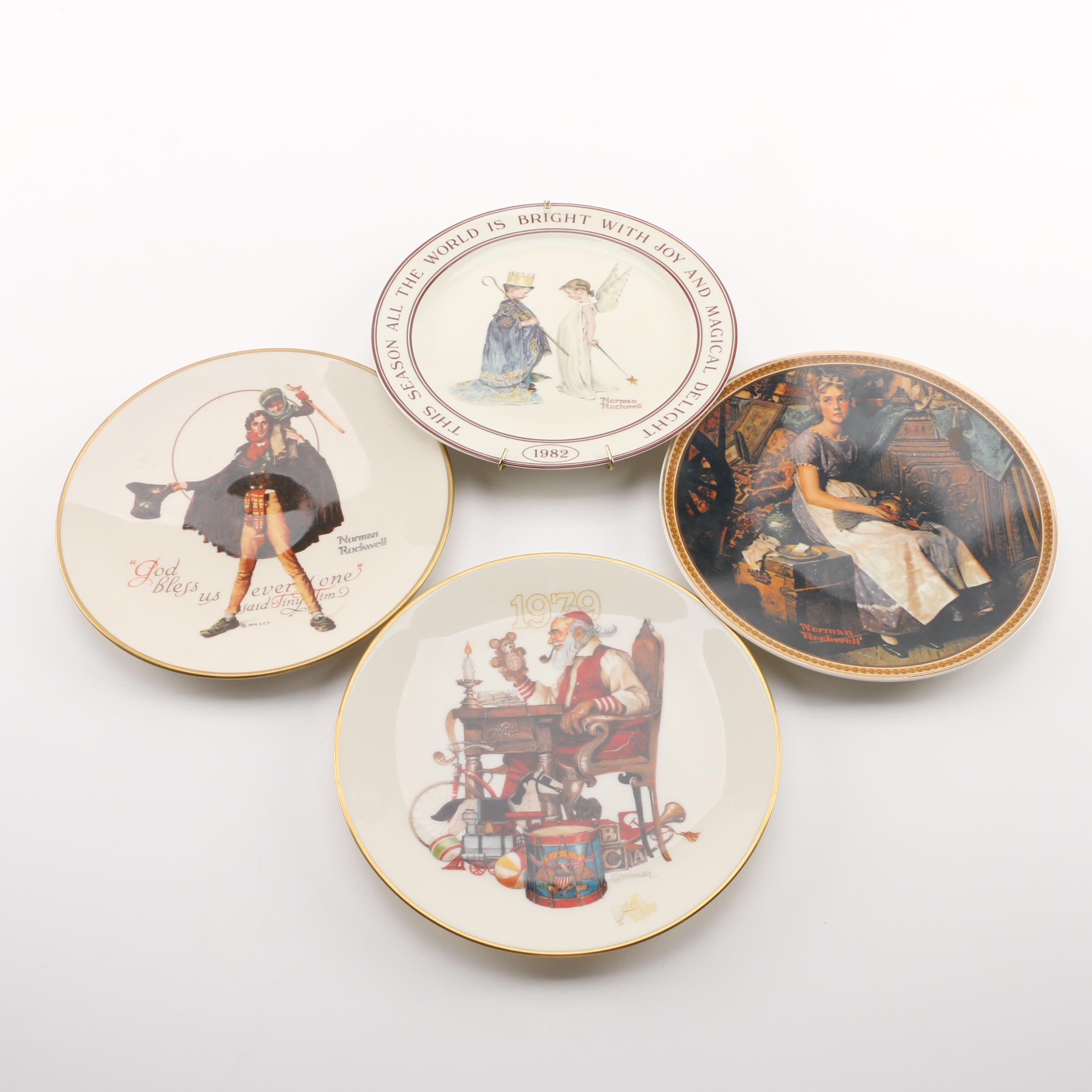 Knowles, Gorham and Hallmark Plates Featuring Art by Norman Rockwell