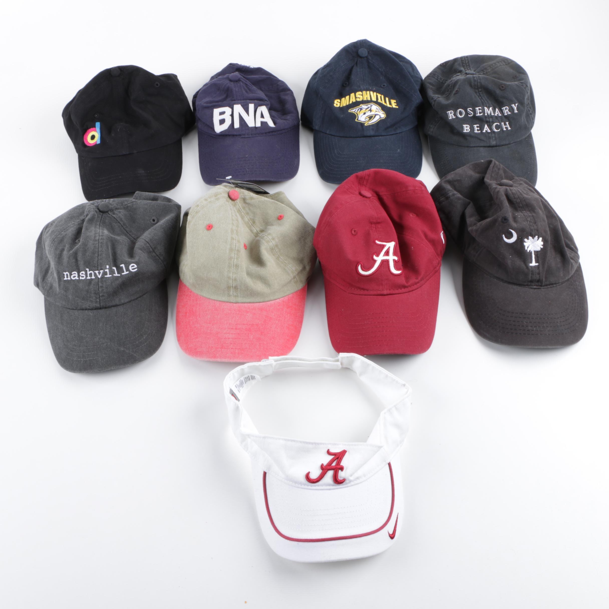 Unisex Baseball Style Caps and Visor