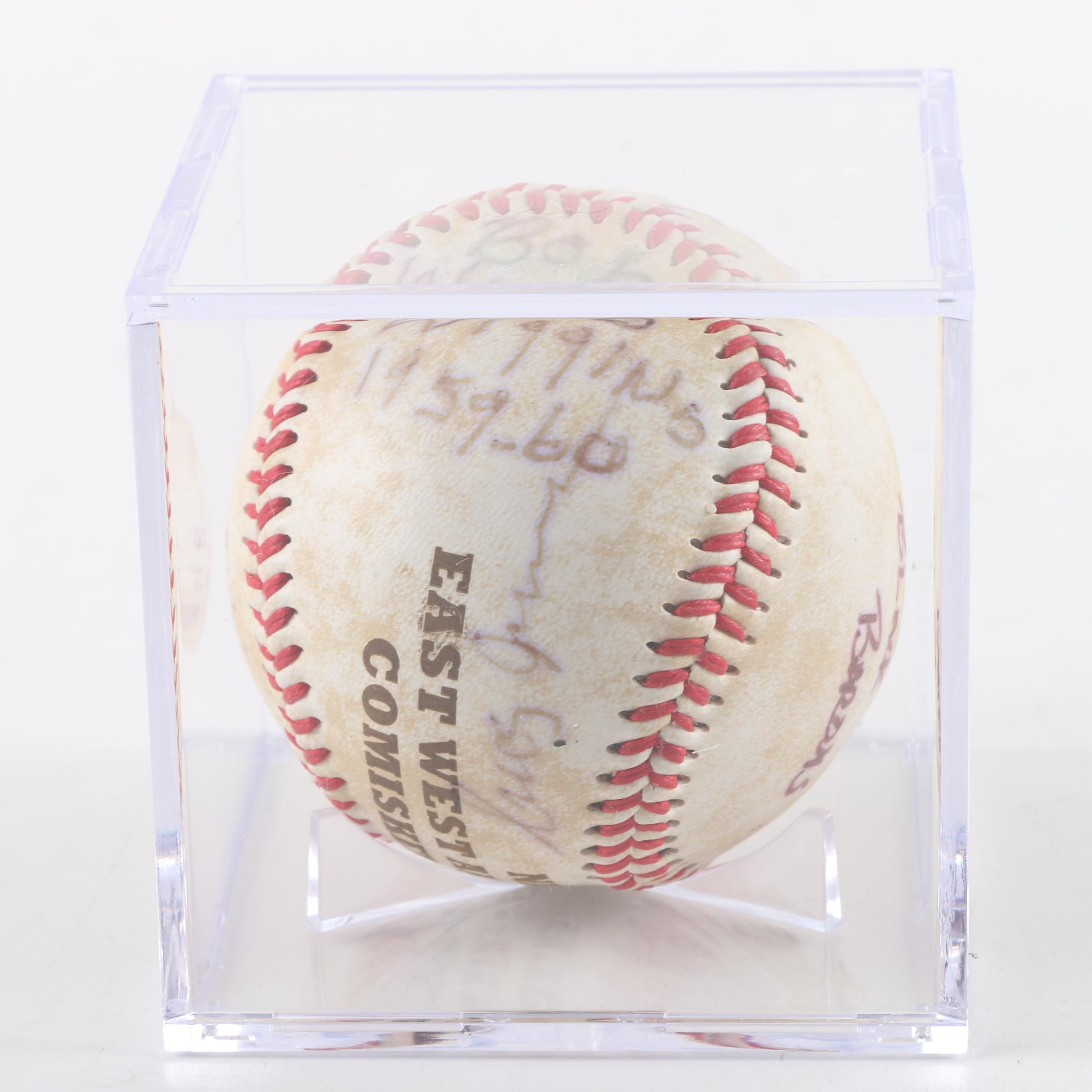 1960 Negro League All-Star Game Multi-Autographed Baseball