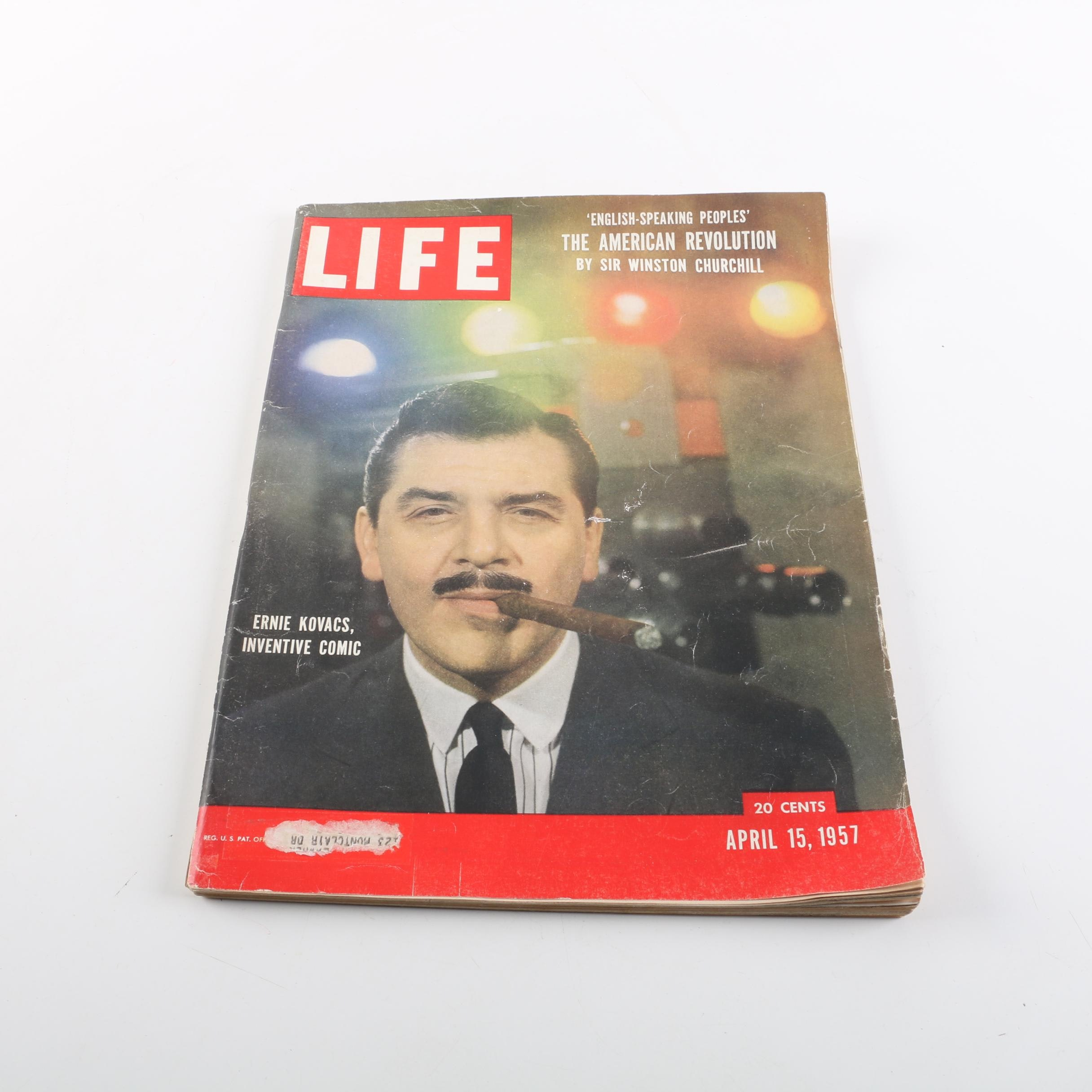 "April 15, 1957 ""Life"" Magazine Featuring Ernie Kovacs and Sir Winston Churchill"