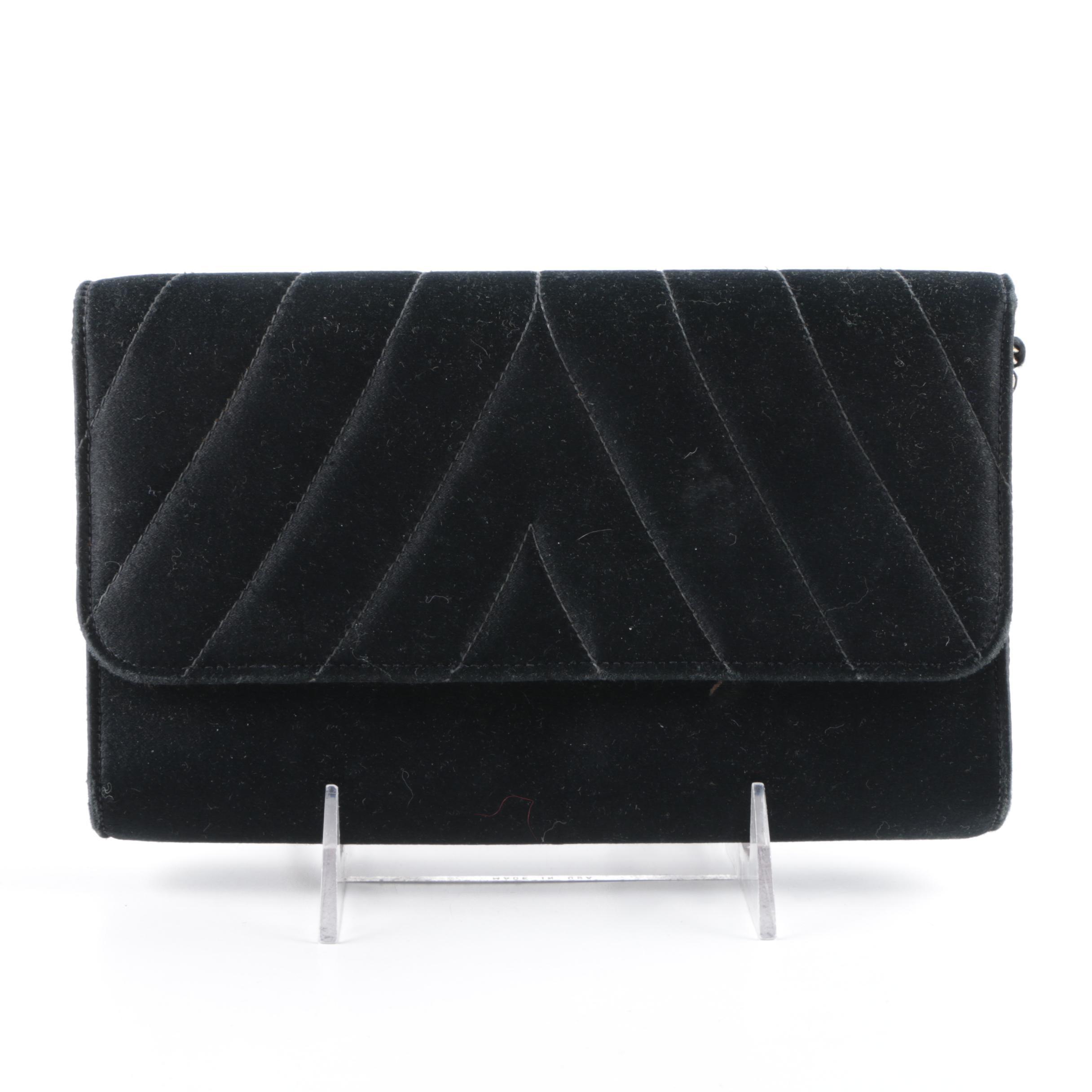 Vintage Lewis Black Clutch Handbag