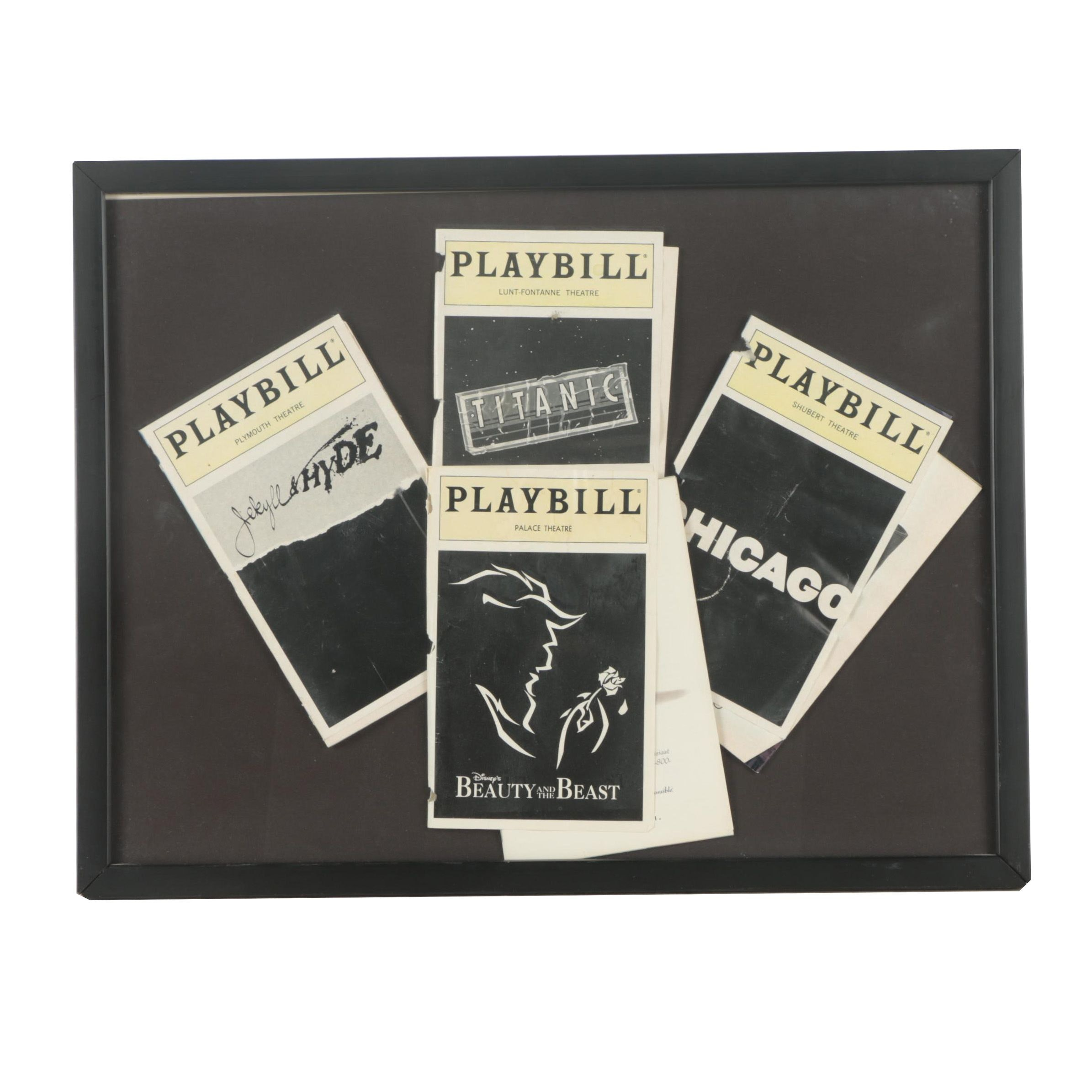 Playbill Covers In Black Frame