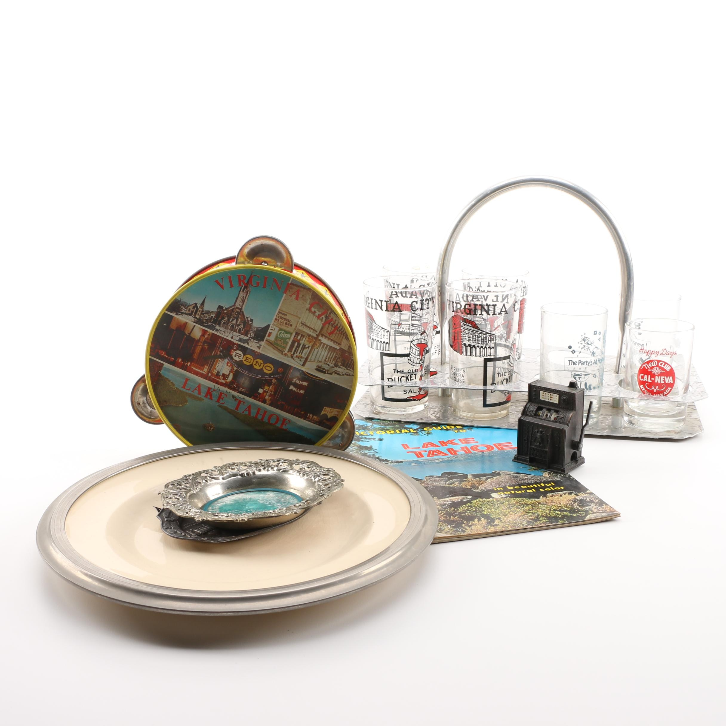 Vintage Travel Souvenirs and Other Collectibles, Including Lake Tahoe and Others