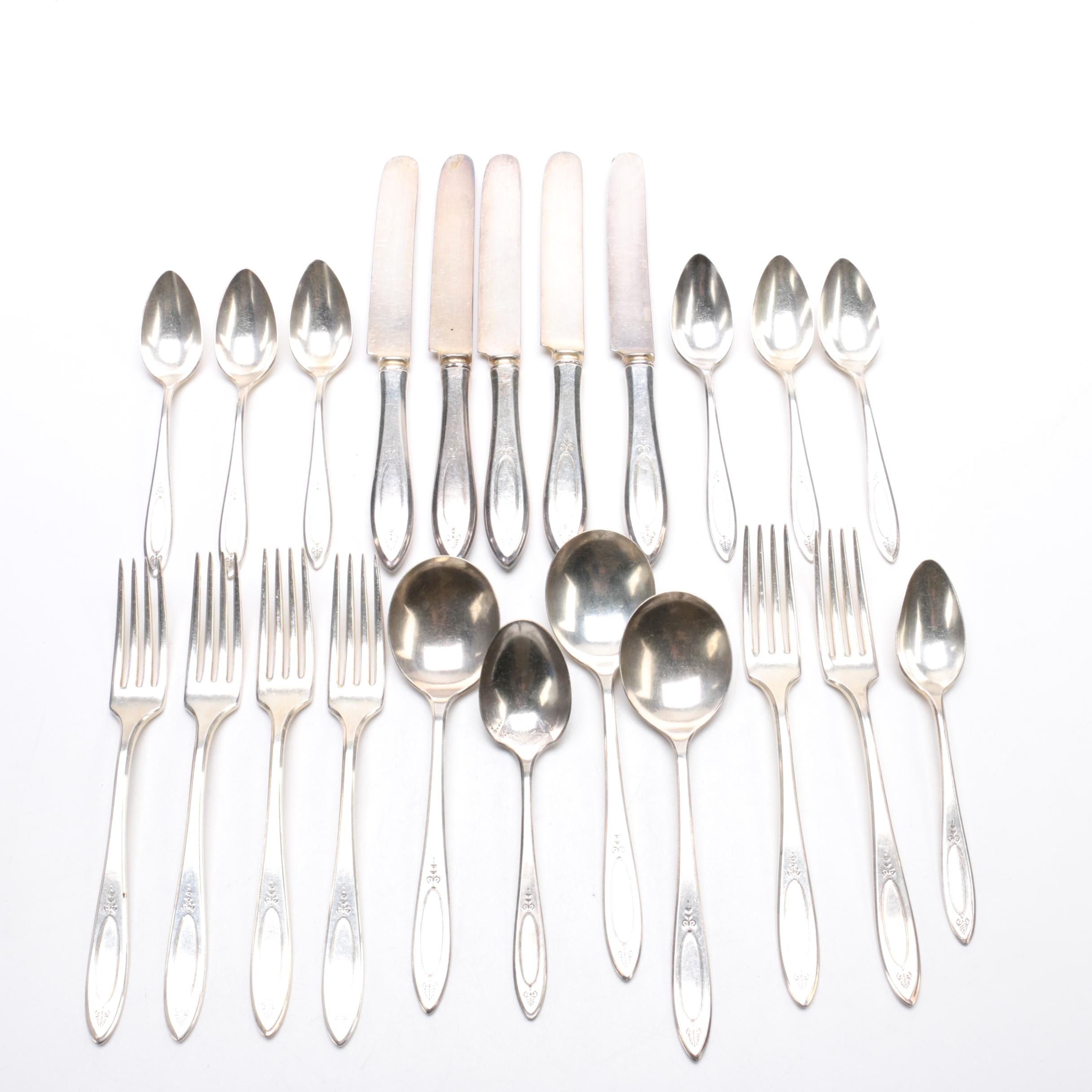 "Community Plate ""Adam"" Silver-Plated Flatware"