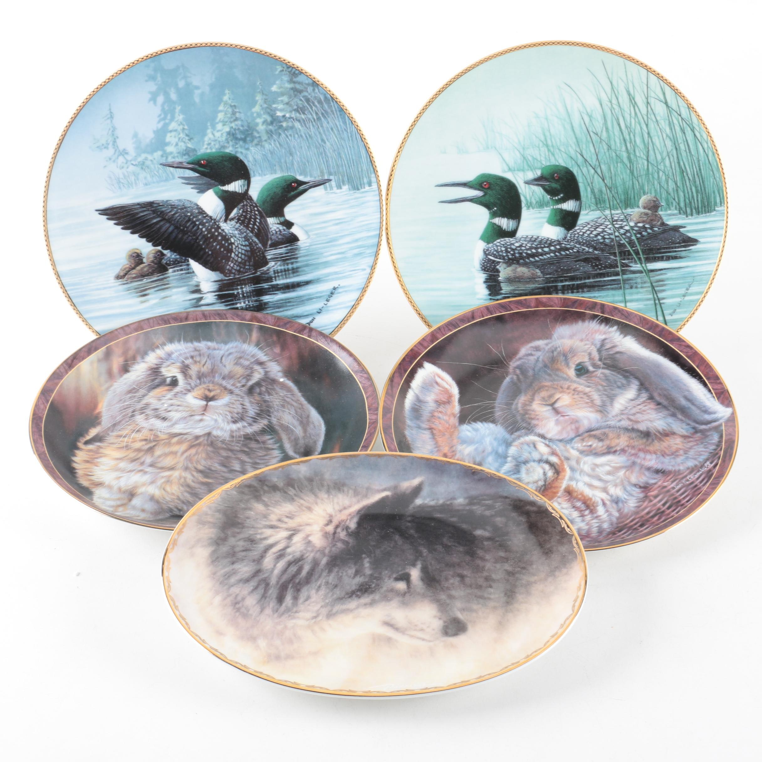 Bradford Exchange Limited Edition Decorative Porcelain Plates