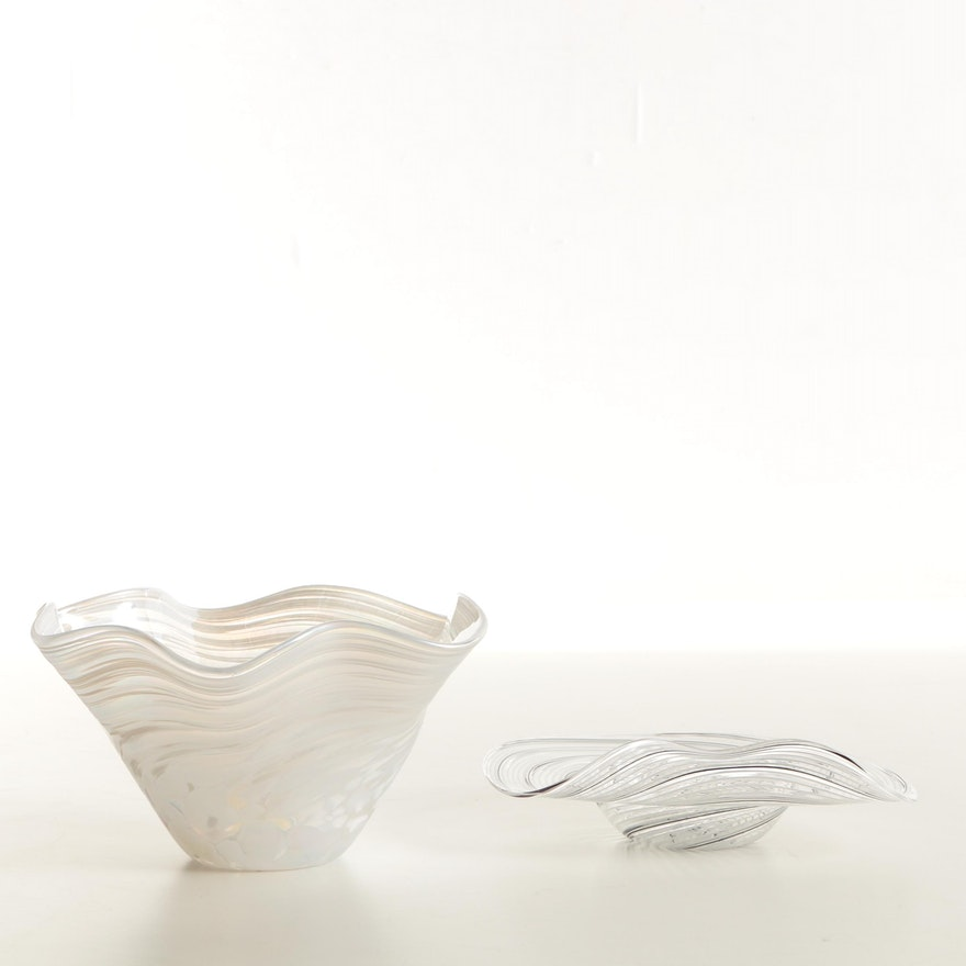 Glass Bowl And Vase Featuring Murano Ebth