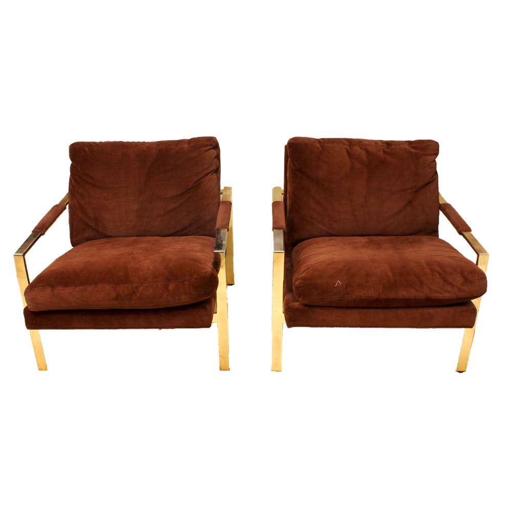 Vintage Milo Baughman Lounge Chairs By Thayer Coggin Ebth