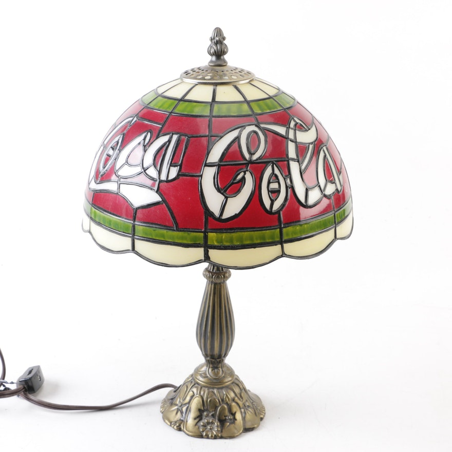 Coca Cola Meyda Tiffany Style Table Lamp Ebth