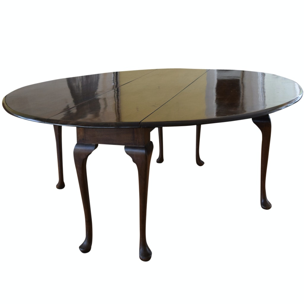 Walnut Gate Leg Drop Leaf Dining Table