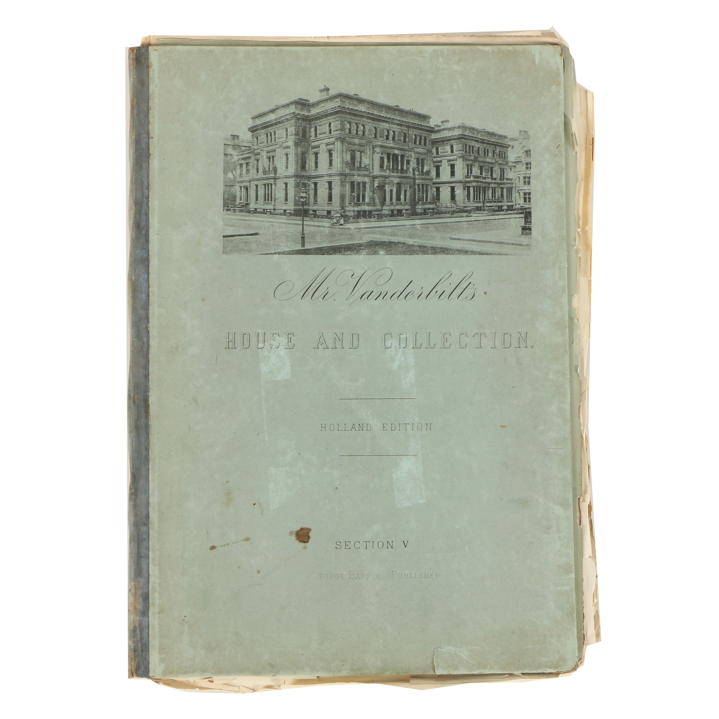 """1883 """"Mr. Vanderbilt's House and Collection"""" Holland Edition, Section V"""