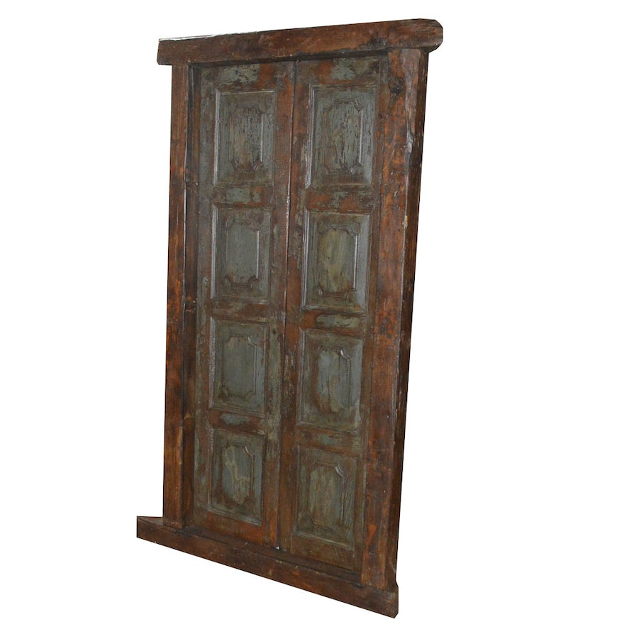 Antique French Doors With Original Hardware And Framing Ebth