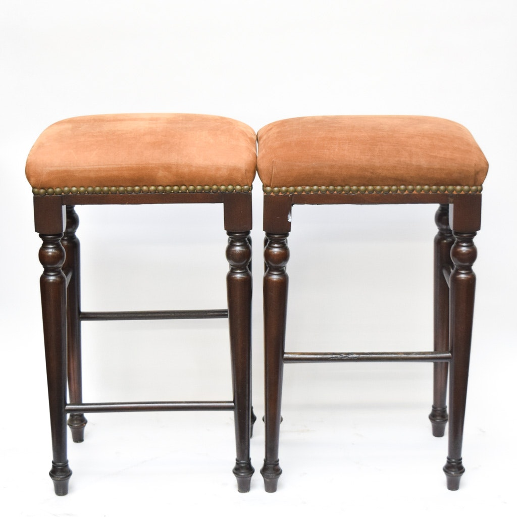 Pair of Jacobean Style Counter Stools