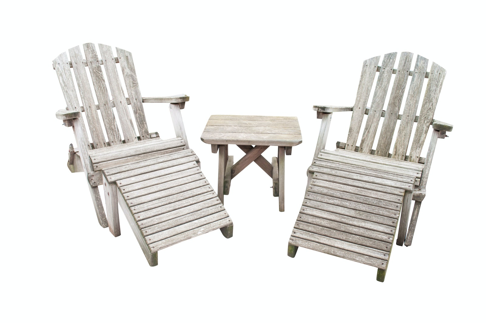 Rustic Adirondack Chairs With Side Table ...