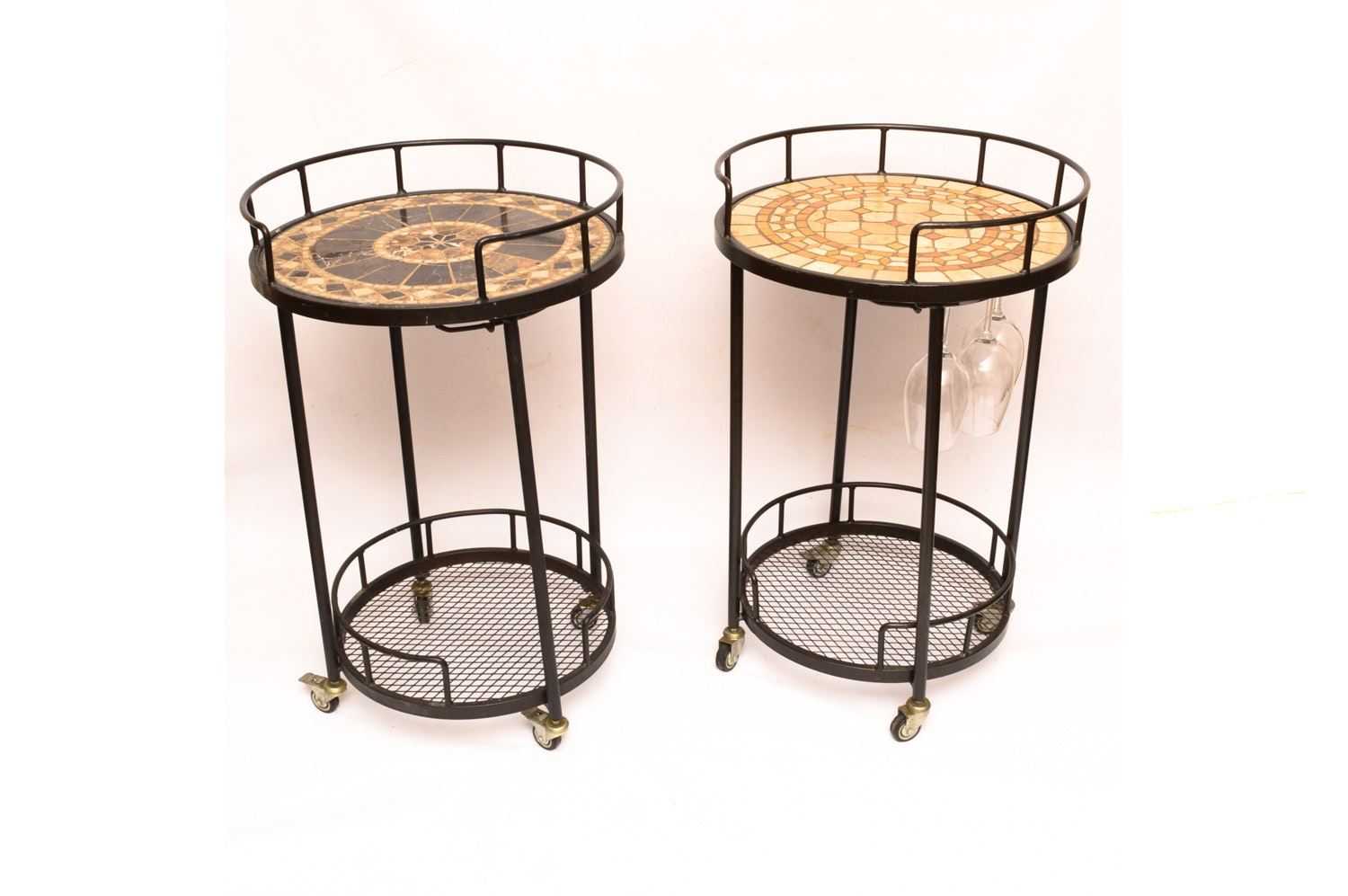 Mosaic Top Outdoor Serving Carts by Alfresco Home