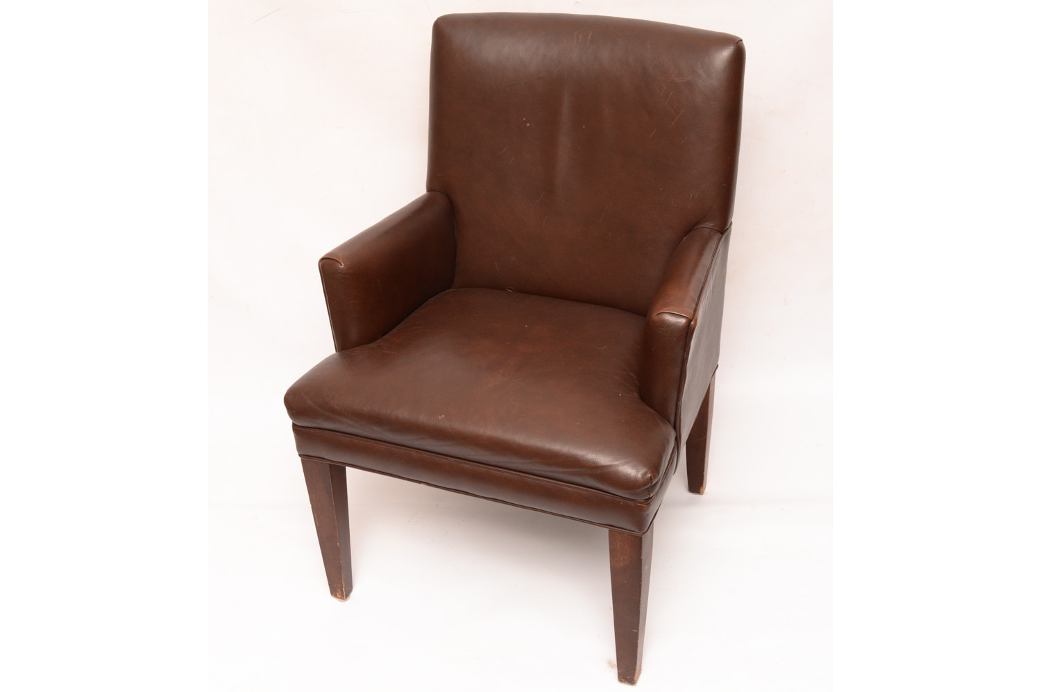 Brown Leather Armchair
