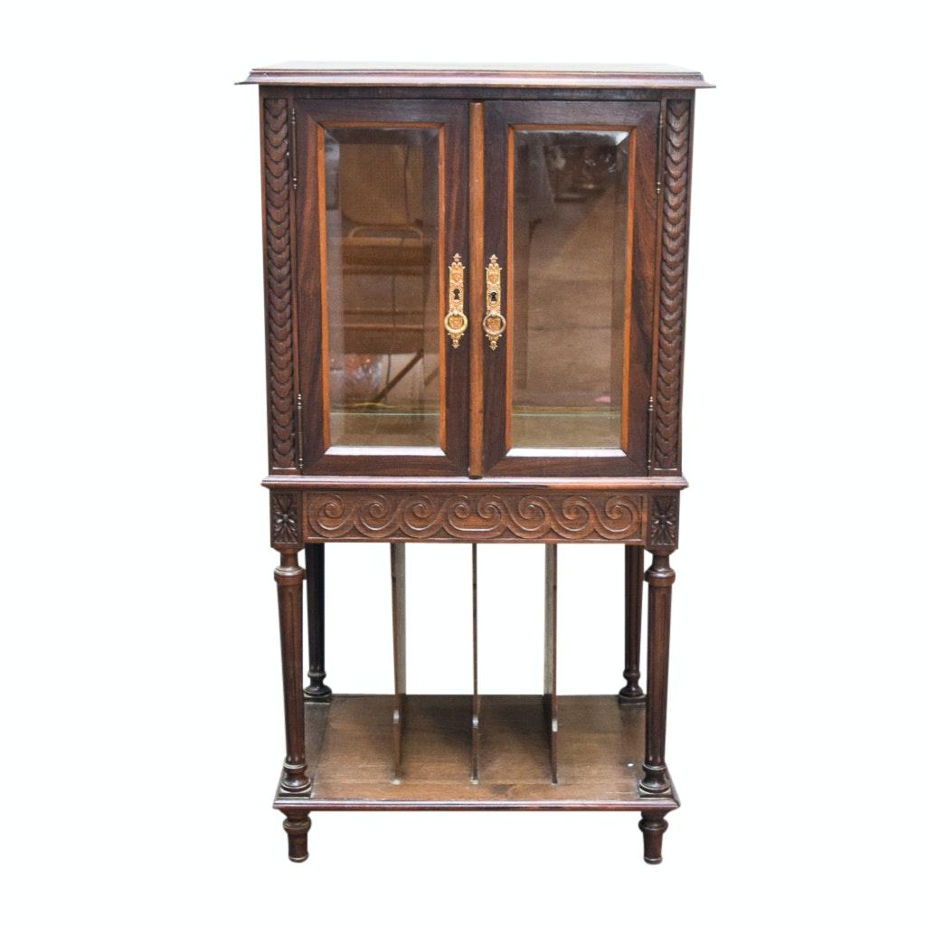Vintage Wooden Display Cabinet