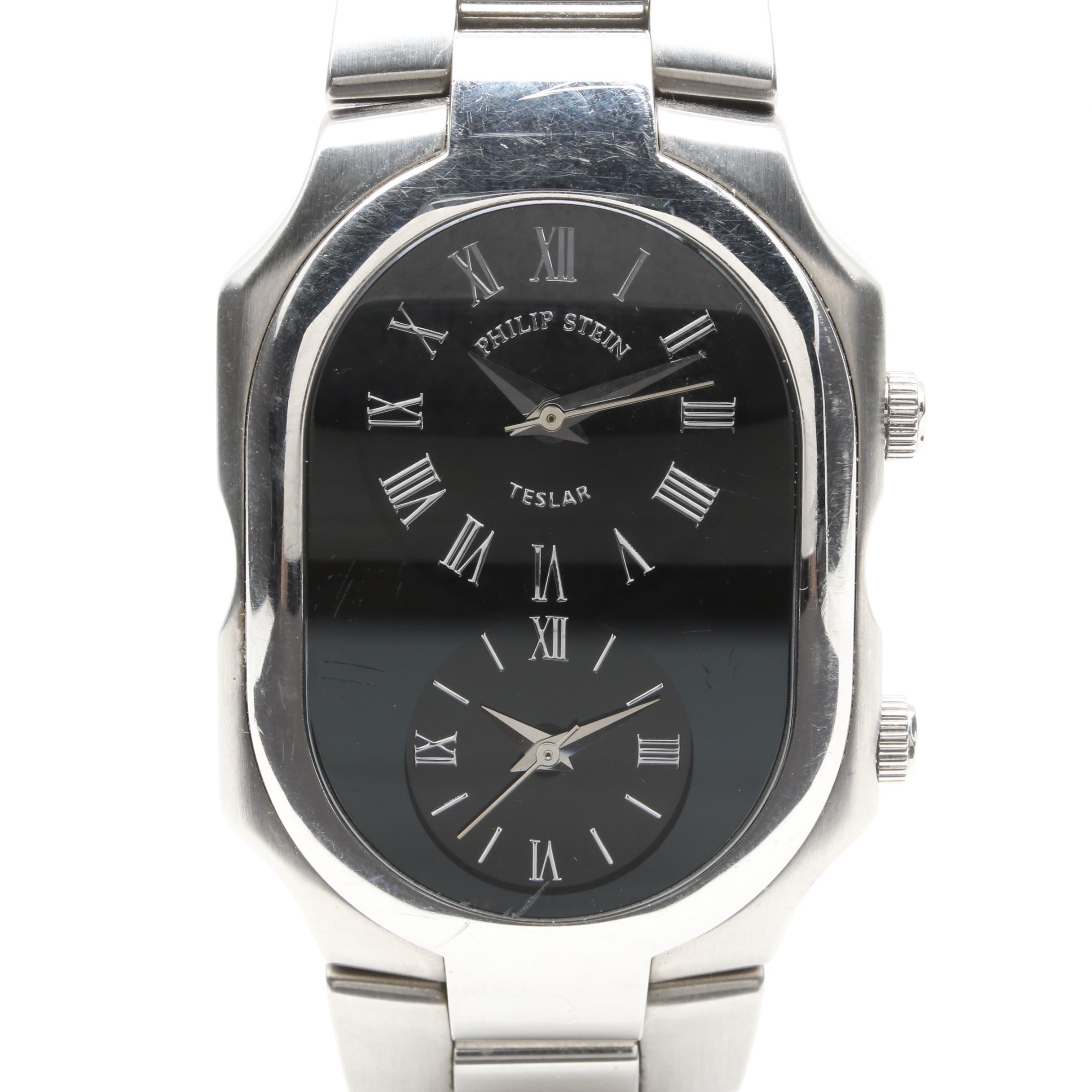 "Philip Stein ""Teslar"" Dual Dial Wristwatch"