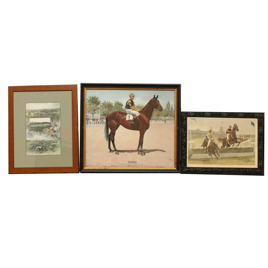 d6e8bb4ac1 Equestrian Themed Prints Featuring Harper's Weekly : EBTH