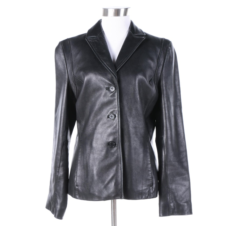Kenneth cole leather jacket women