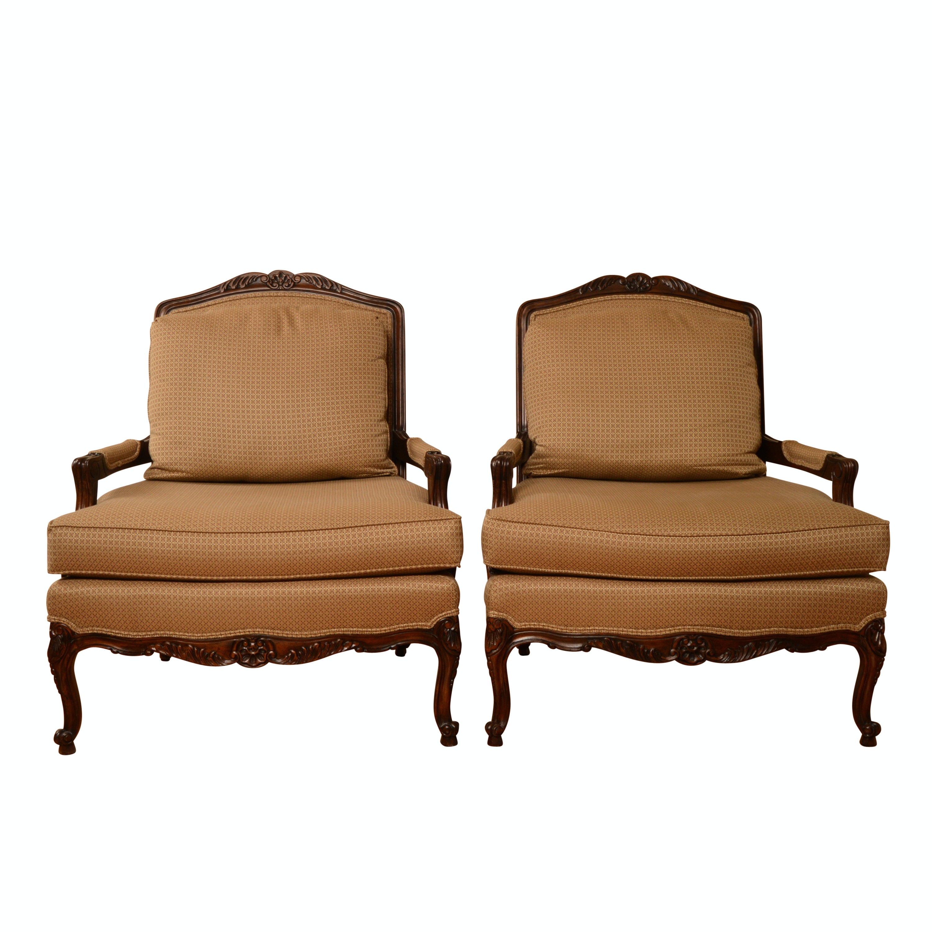 Louis XV Style Upholstered Armchairs By Thomasville ...