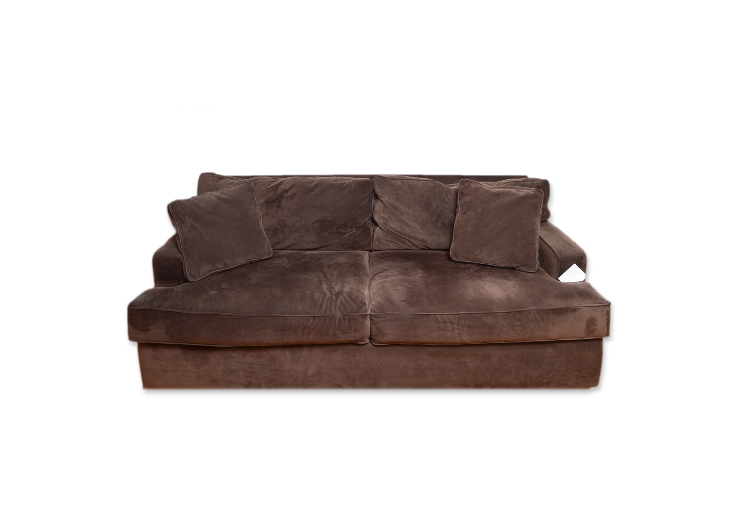 Brown Upholstered Sofa by Jonathan Louis