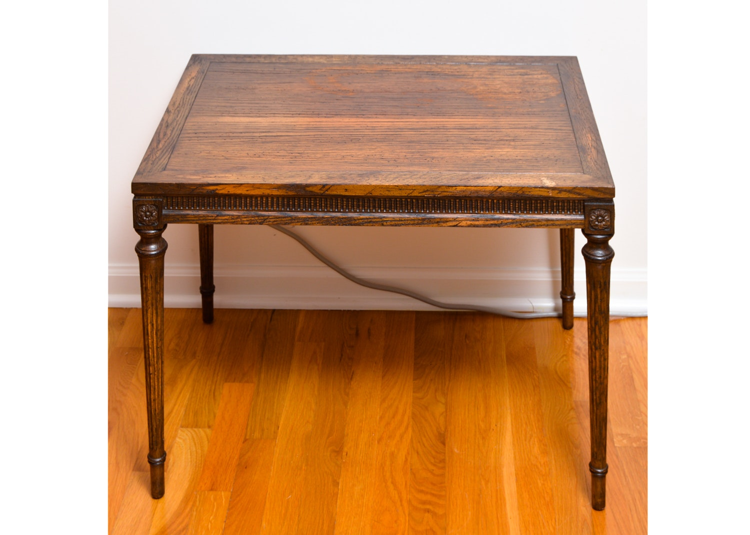 Neoclassical Style Wooden Side Table