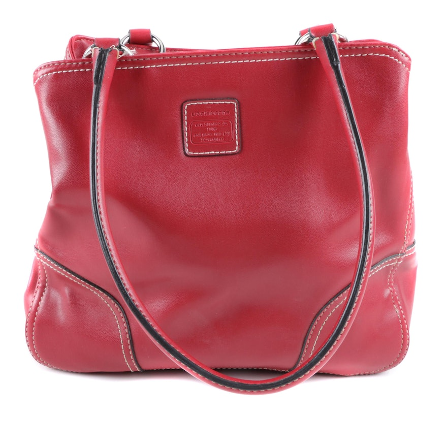 00f86667ed75 Liz Claiborne Red Faux Leather Handbag with Contrast Stitching   EBTH