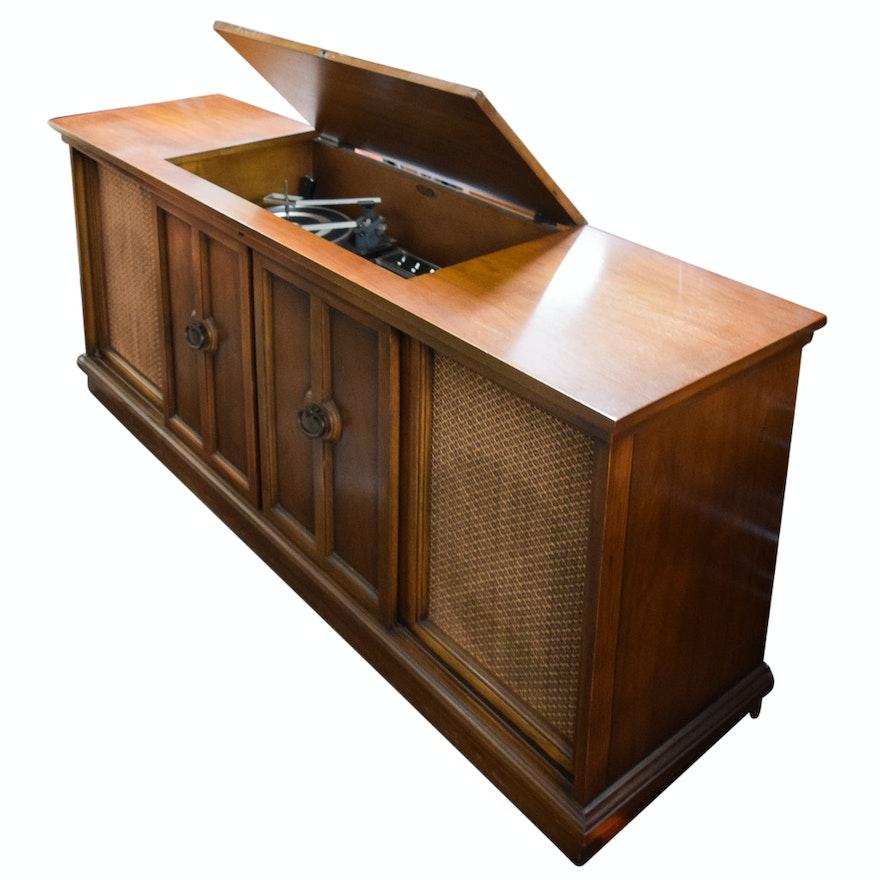 Vintage Sears Silvertone Stereo Radio Phonograph Console