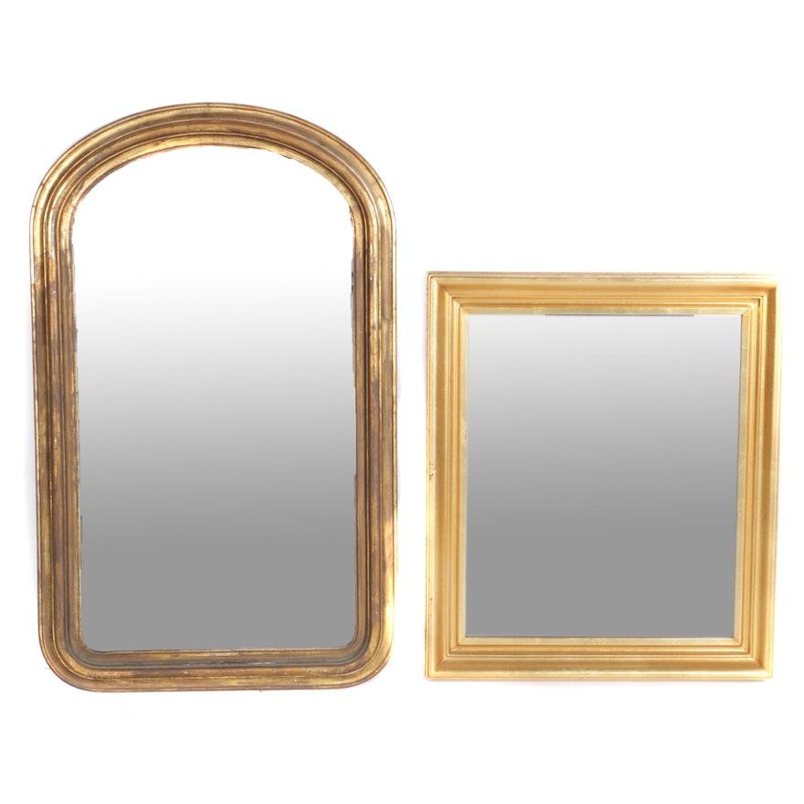 c0e5aa7f92e Wall Mirrors with Gold Tone Beveled Wood Frames   EBTH
