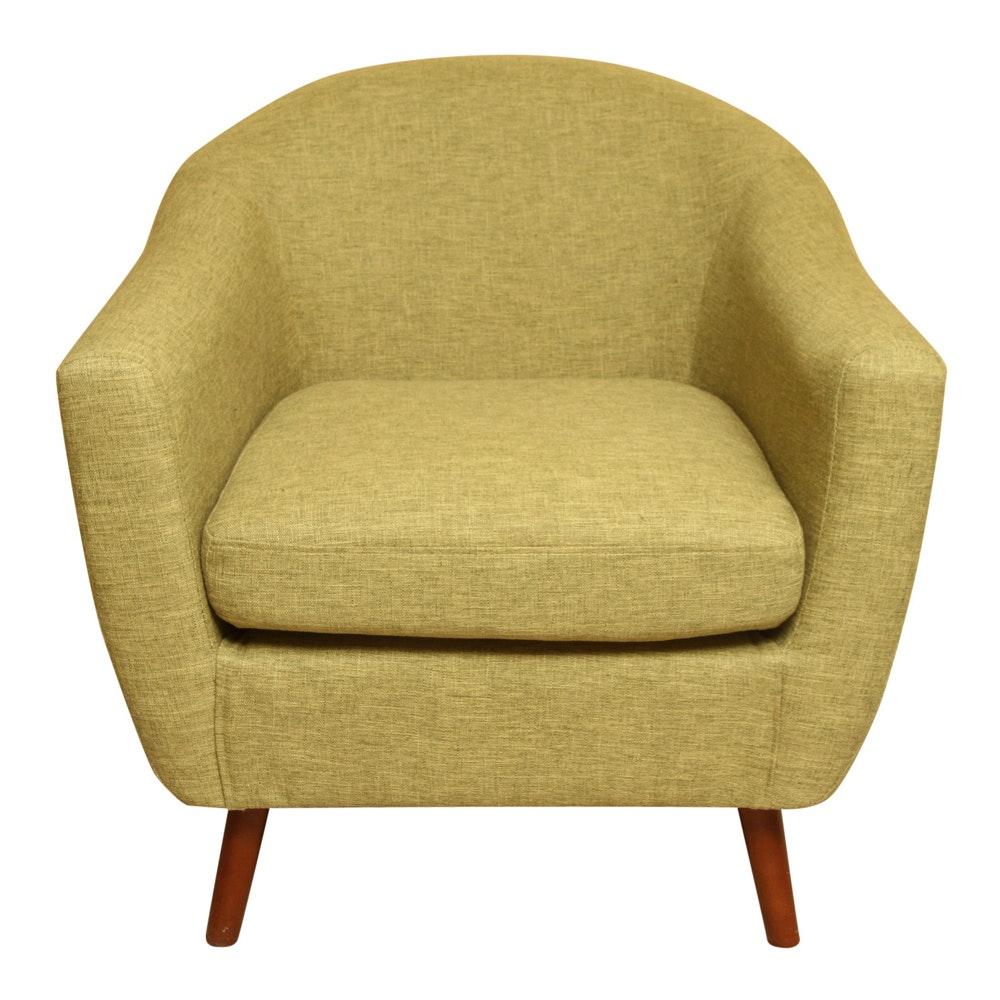 Green Mid Century Modern Style Armchair
