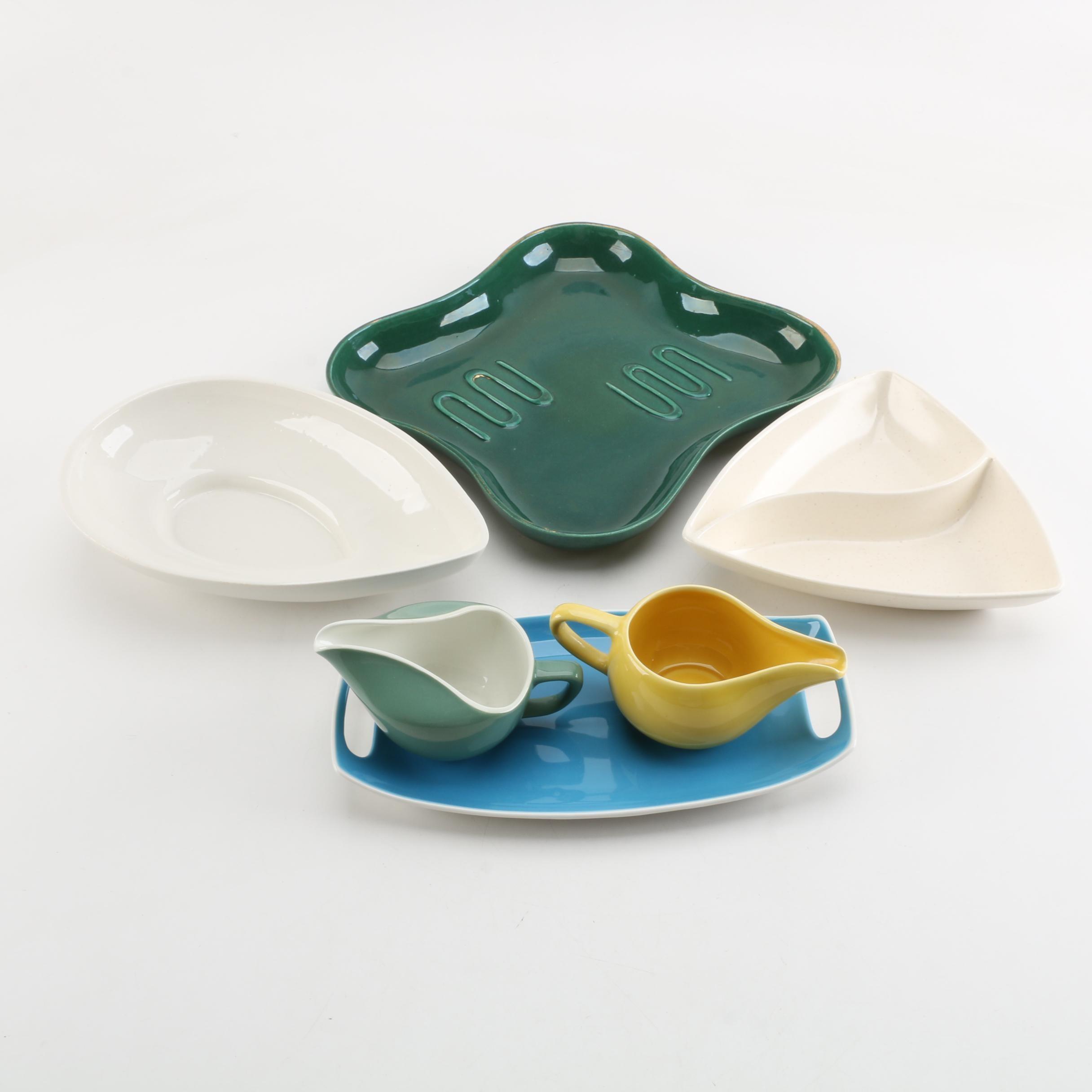 Vintage Ceramic Serveware Including Santa Anita Ware