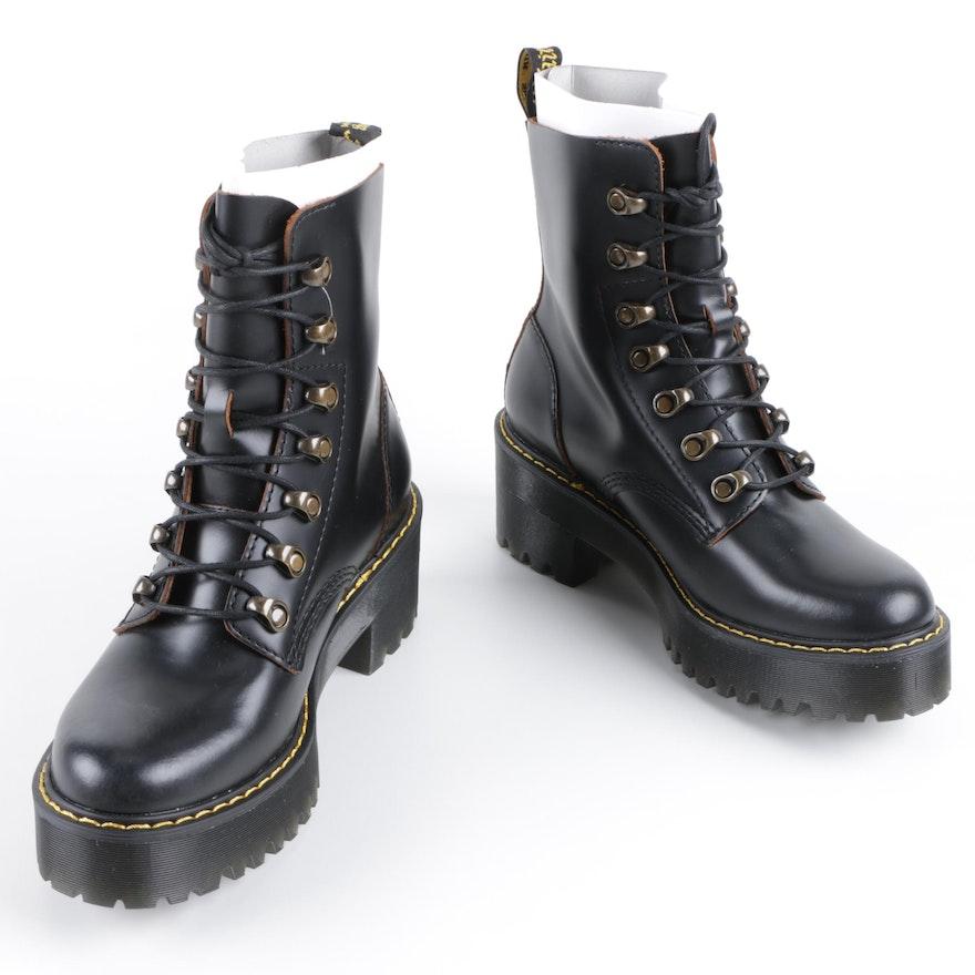 d3e5476e8 Dr. Martens Leona Lace Up Combat Ankle Boots | EBTH