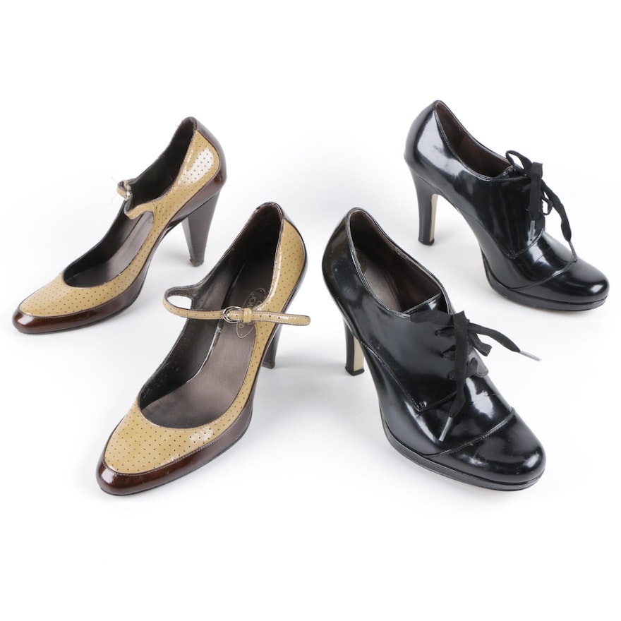 97c3cadfc32 Circa Joan   David Leather Mary Jane and Oxford Style Heels   EBTH