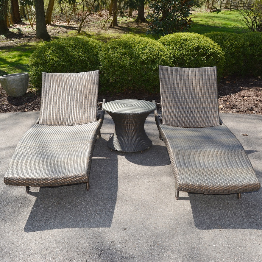 Awesome Frontgate Outdoor Chaise Lounge Chairs And Table Pdpeps Interior Chair Design Pdpepsorg