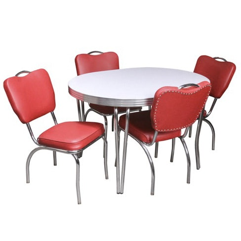 Diner Style Dining Table and Chairs
