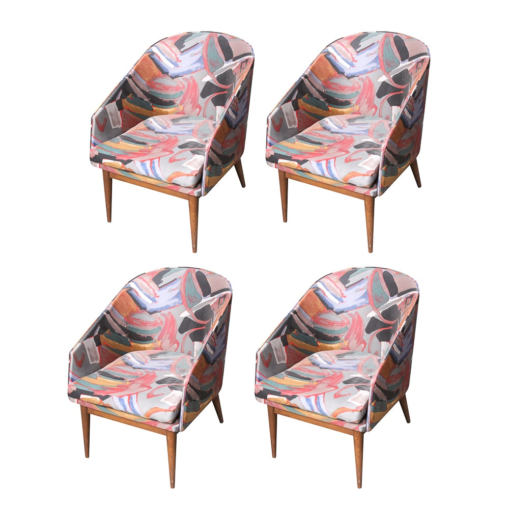 Four Danish Modern Style Dining Chairs