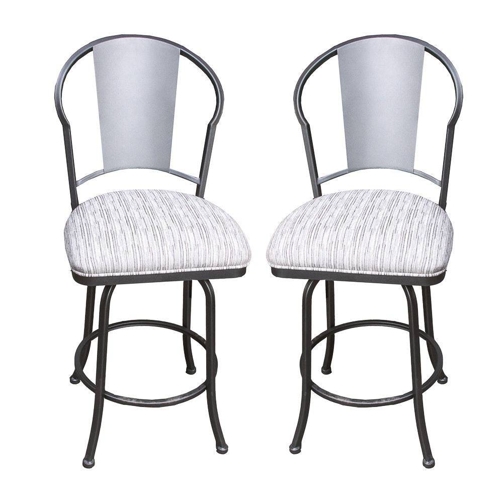 Pair of Swivel Bar Stools by Pastel Furniture