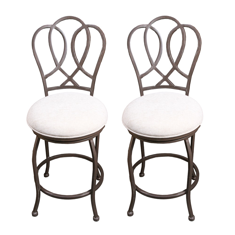 Pair of Swivel Counter Stools