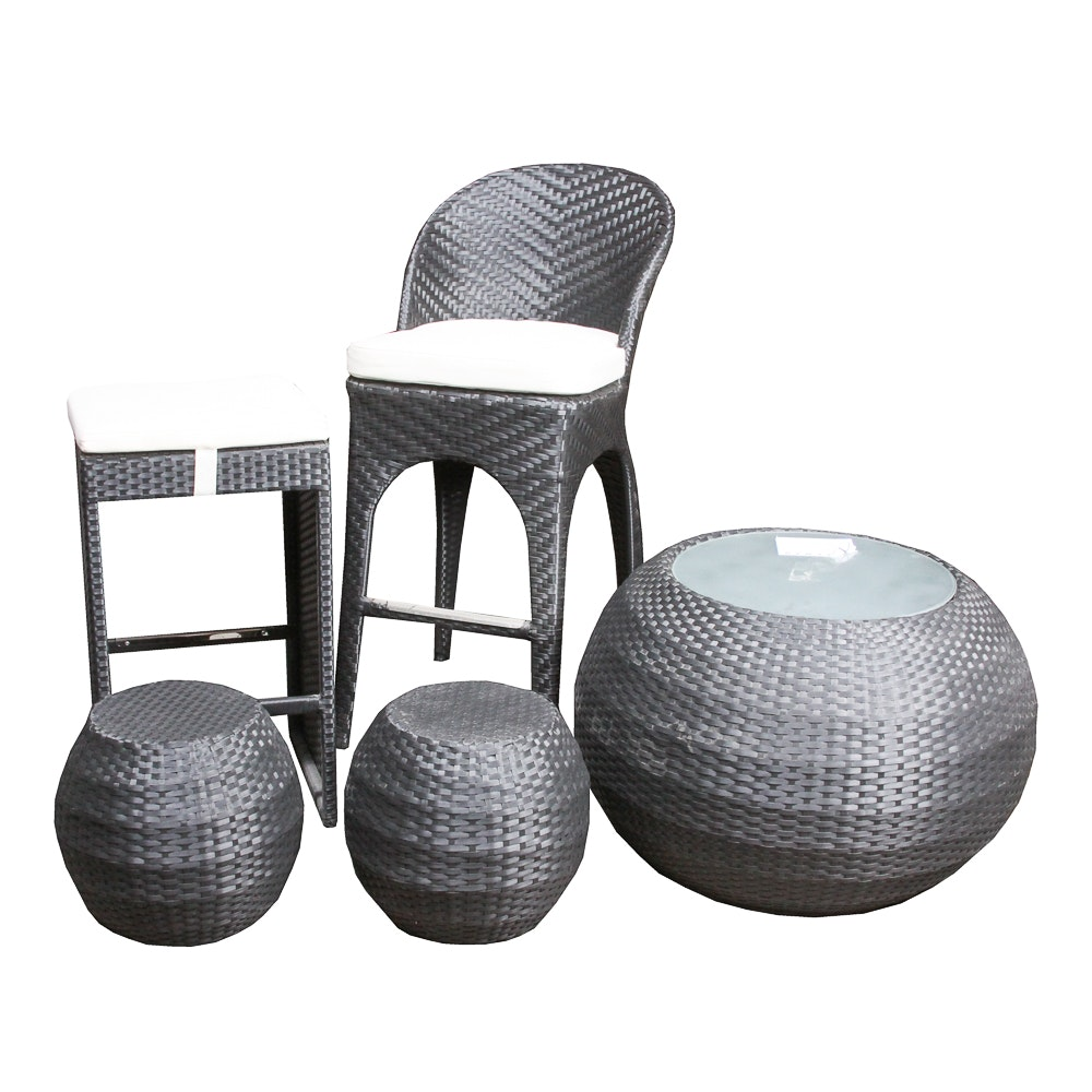 Zuo Modern Grey Wicker Furniture Group