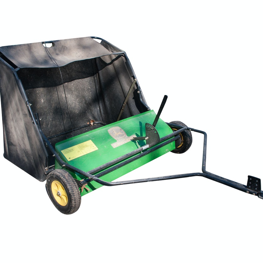 John Deere 44 Sweeper : John deere tow behind lawn sweeper ebth