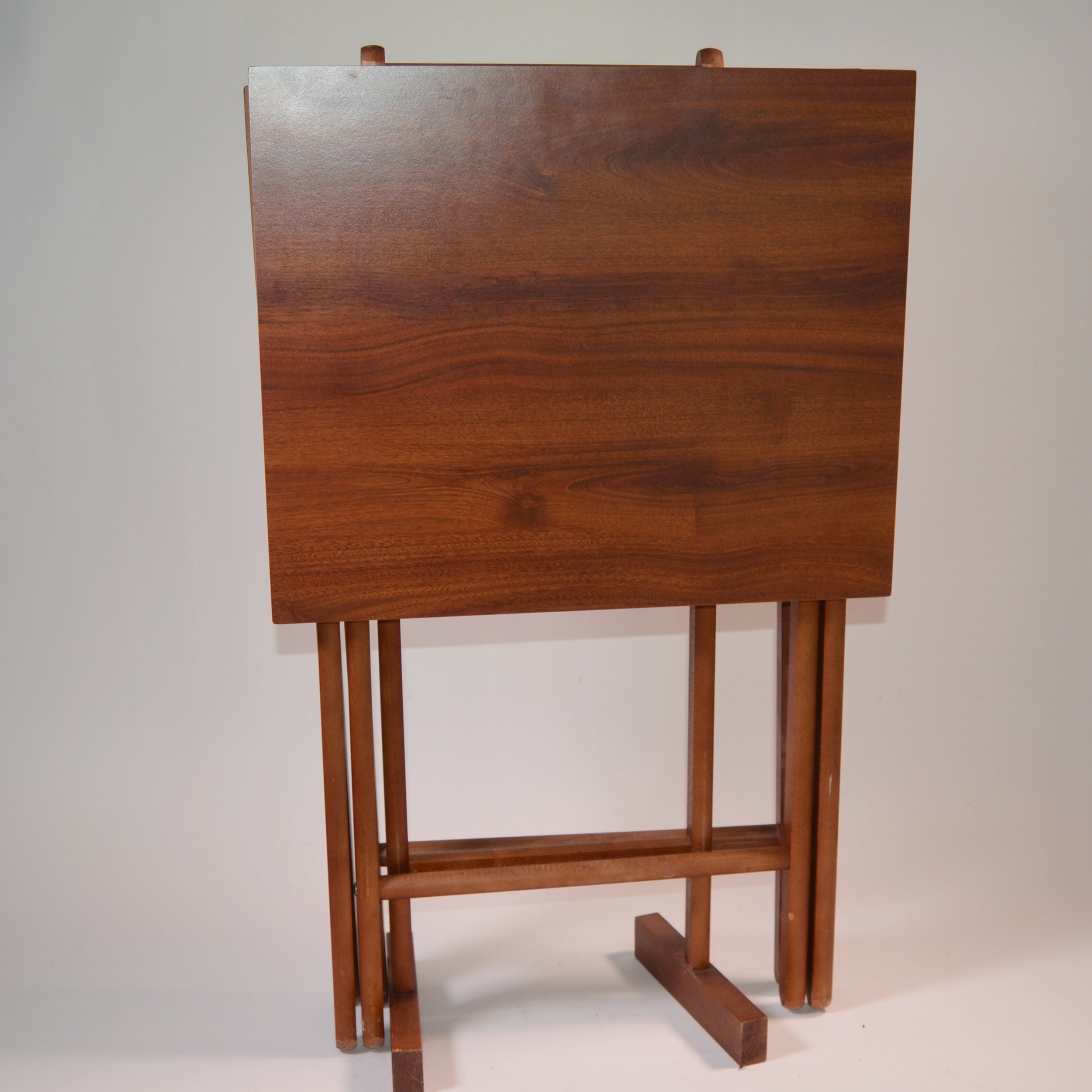 Vintage Scheibe Folding Snack Tables And Stand ...