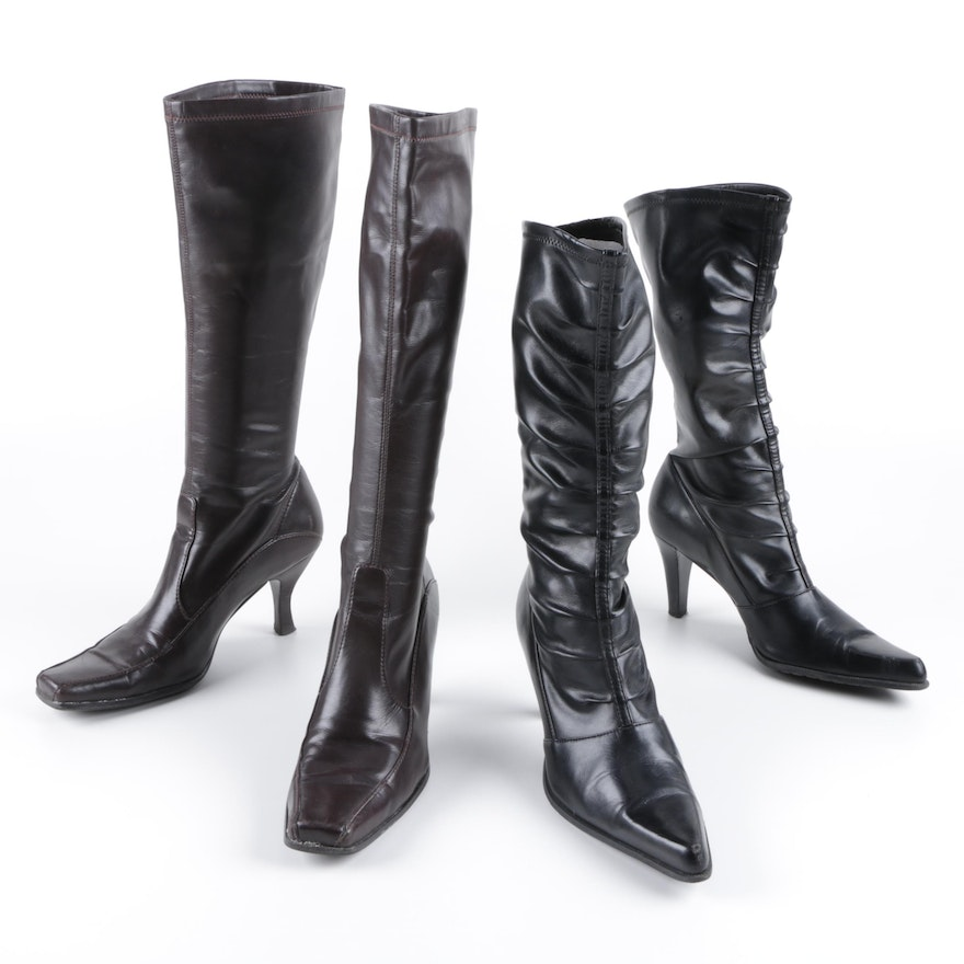 618881272a1 Franco Sarto Faux Leather High Heel Boots   EBTH