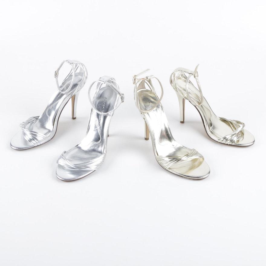 58710f437cf Chinese Laundry Legendary Metallic Faux Leather Stiletto Sandals   EBTH