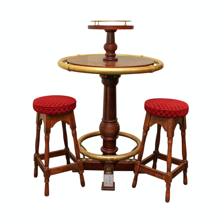Swell English Queen Anne Bar Table With Stools Theyellowbook Wood Chair Design Ideas Theyellowbookinfo