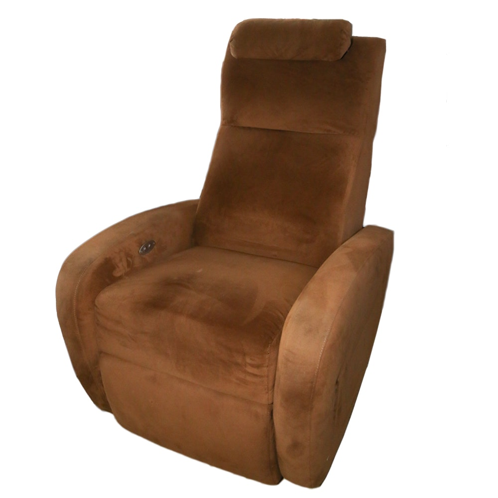 Microsuede Reclining Armchair