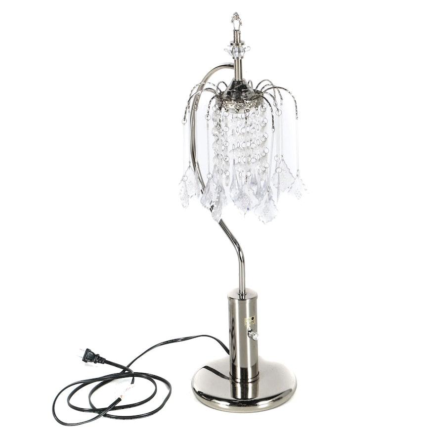 Reworkchandelier desk lamp with crystal shade ebth reworkchandelier desk lamp with crystal shade aloadofball Gallery