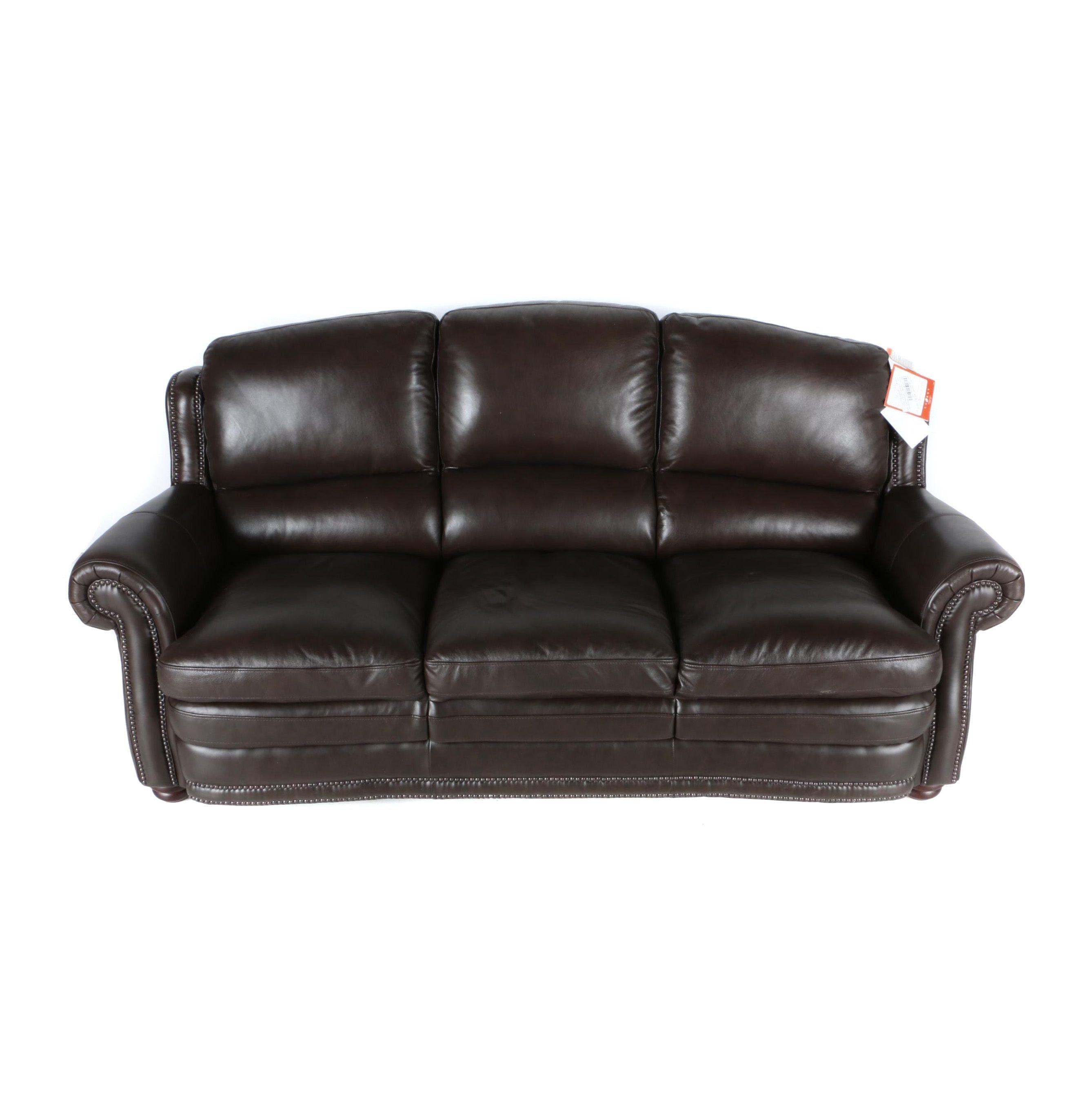 Gideon Dark Brown Leather Sofa by La Z Boy EBTH