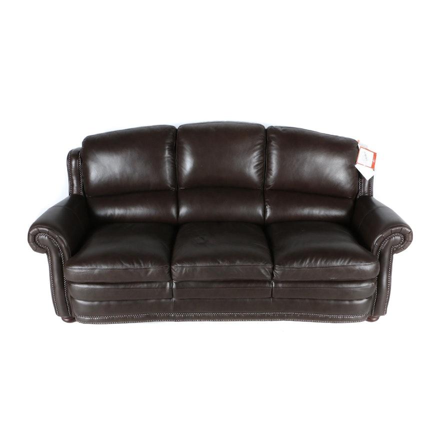 Quot Gideon Quot Dark Brown Leather Sofa By La Z Boy Ebth